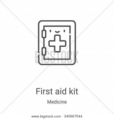 first aid kit icon isolated on white background from medicine collection. first aid kit icon trendy