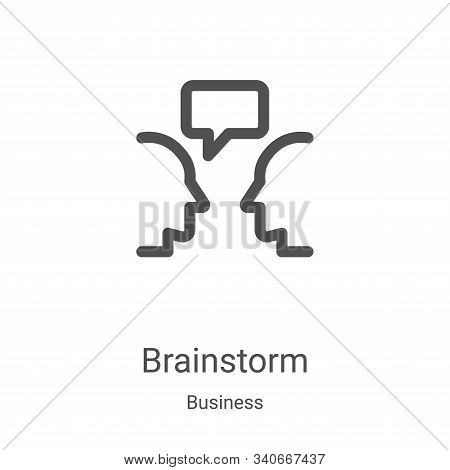 brainstorm icon isolated on white background from business collection. brainstorm icon trendy and mo