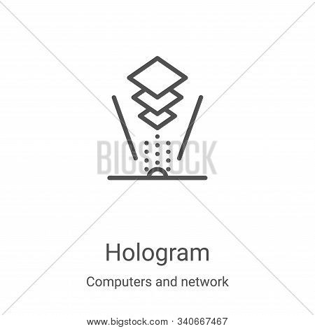 hologram icon isolated on white background from computers and network collection. hologram icon tren