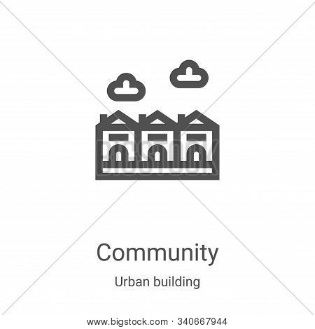 community icon isolated on white background from urban building collection. community icon trendy an