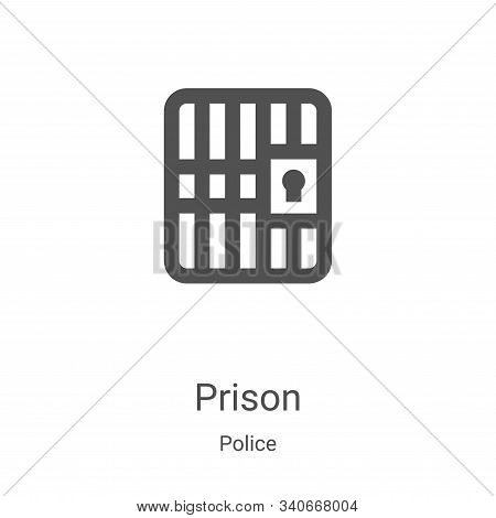 prison icon isolated on white background from police collection. prison icon trendy and modern priso
