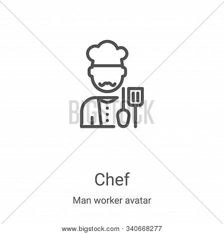 chef icon isolated on white background from man worker avatar collection. chef icon trendy and moder