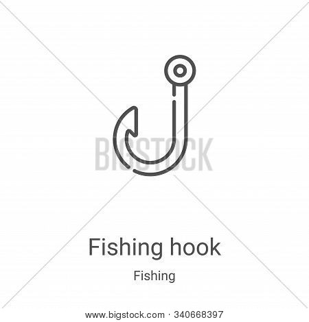fishing hook icon isolated on white background from fishing collection. fishing hook icon trendy and