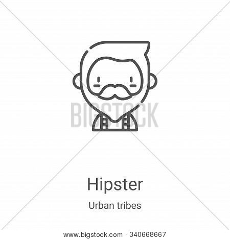 hipster icon isolated on white background from urban tribes collection. hipster icon trendy and mode