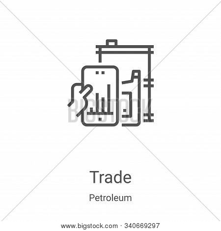 trade icon isolated on white background from petroleum collection. trade icon trendy and modern trad