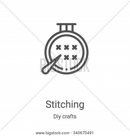 stitching icon isolated on white background from diy crafts collection. stitching icon trendy and mo