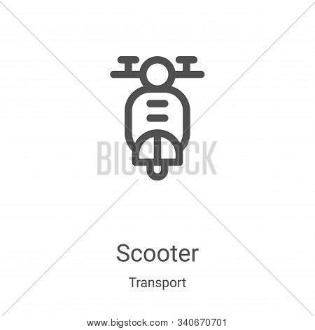 scooter icon isolated on white background from transport collection. scooter icon trendy and modern