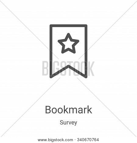 bookmark icon isolated on white background from survey collection. bookmark icon trendy and modern b