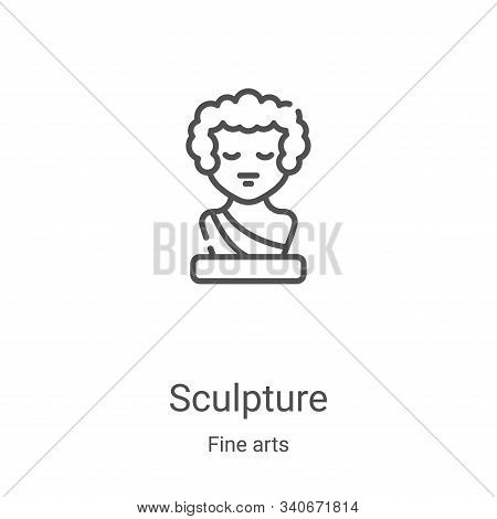 sculpture icon isolated on white background from fine arts collection. sculpture icon trendy and mod