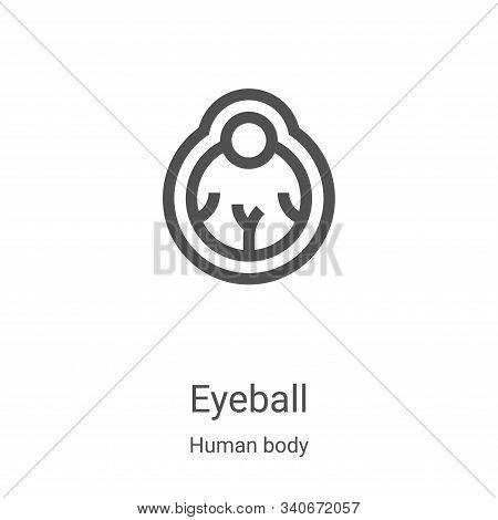eyeball icon isolated on white background from human body collection. eyeball icon trendy and modern