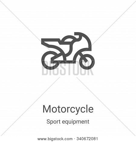 motorcycle icon isolated on white background from sport equipment collection. motorcycle icon trendy