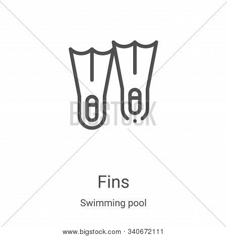 fins icon isolated on white background from swimming pool collection. fins icon trendy and modern fi