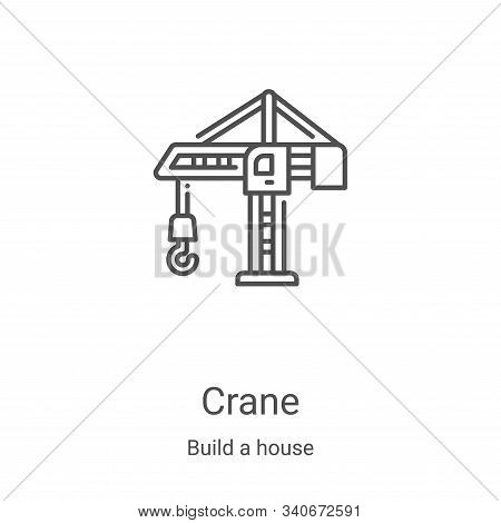 crane icon isolated on white background from build a house collection. crane icon trendy and modern