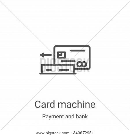 card machine icon isolated on white background from payment and bank collection. card machine icon t