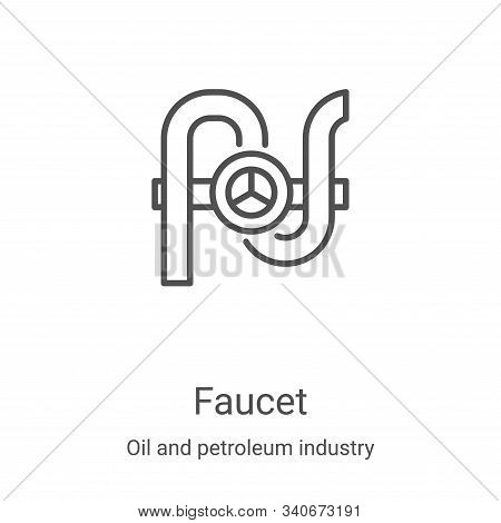 faucet icon isolated on white background from oil and petroleum industry collection. faucet icon tre
