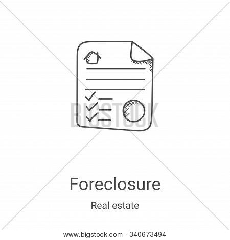 foreclosure icon isolated on white background from real estate collection. foreclosure icon trendy a