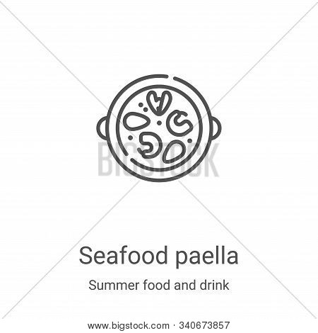 seafood paella icon isolated on white background from summer food and drink collection. seafood pael