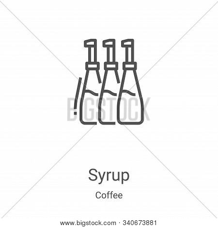 syrup icon isolated on white background from coffee collection. syrup icon trendy and modern syrup s