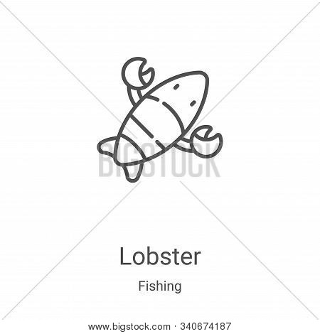 lobster icon isolated on white background from fishing collection. lobster icon trendy and modern lo