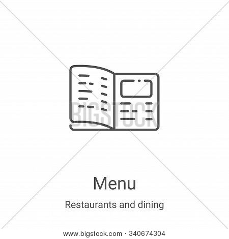 menu icon isolated on white background from restaurants and dining collection. menu icon trendy and