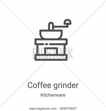 coffee grinder icon isolated on white background from kitchenware collection. coffee grinder icon tr