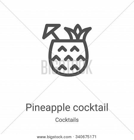 pineapple cocktail icon isolated on white background from cocktails collection. pineapple cocktail i
