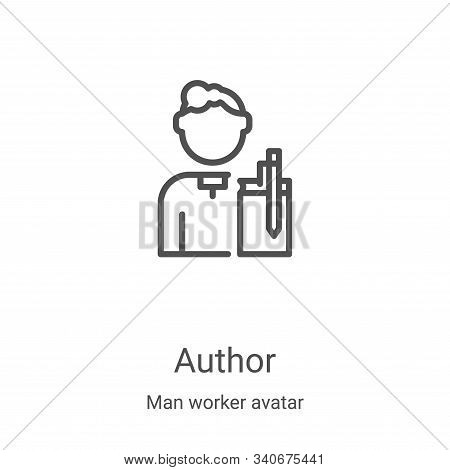 author icon isolated on white background from man worker avatar collection. author icon trendy and m