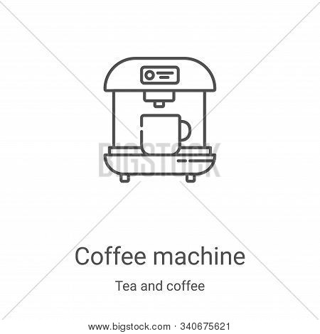 coffee machine icon isolated on white background from tea and coffee collection. coffee machine icon