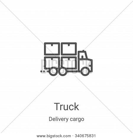 truck icon isolated on white background from delivery cargo collection. truck icon trendy and modern