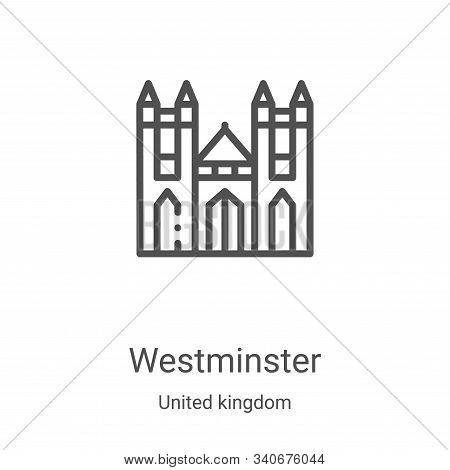 westminster icon isolated on white background from united kingdom collection. westminster icon trend