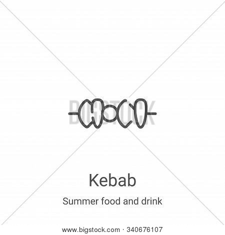 kebab icon isolated on white background from summer food and drink collection. kebab icon trendy and