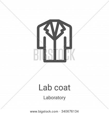 lab coat icon isolated on white background from laboratory collection. lab coat icon trendy and mode