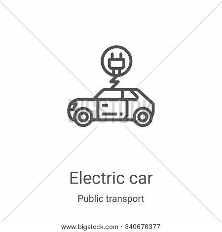 electric car icon isolated on white background from public transport collection. electric car icon t