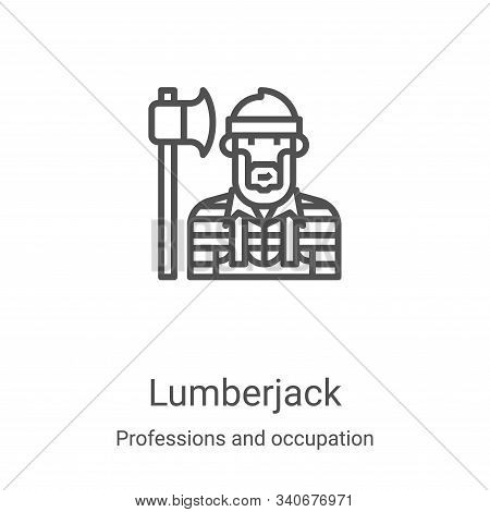 lumberjack icon isolated on white background from professions and occupation collection. lumberjack