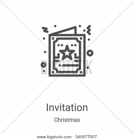 invitation icon isolated on white background from christmas collection. invitation icon trendy and m