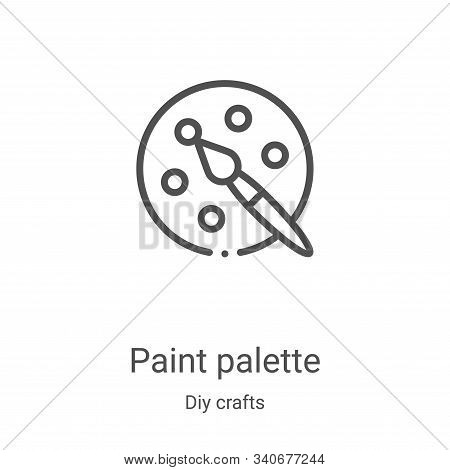 paint palette icon isolated on white background from diy crafts collection. paint palette icon trend