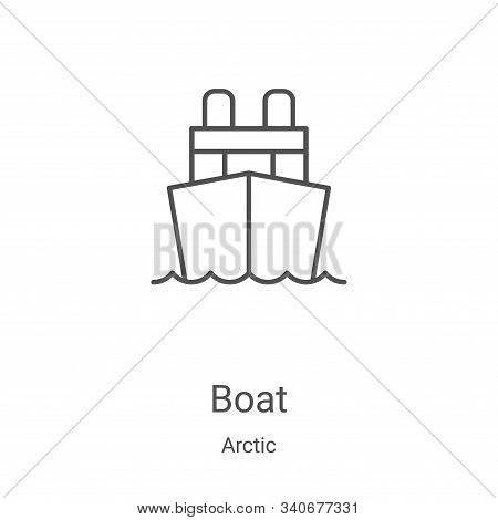boat icon isolated on white background from arctic collection. boat icon trendy and modern boat symb