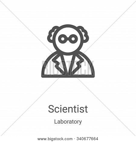 scientist icon isolated on white background from laboratory collection. scientist icon trendy and mo