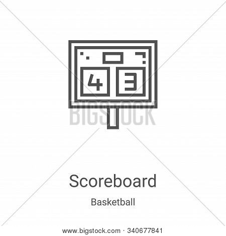 scoreboard icon isolated on white background from basketball collection. scoreboard icon trendy and