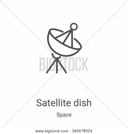 satellite dish icon isolated on white background from space collection. satellite dish icon trendy a