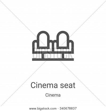 cinema seat icon isolated on white background from cinema collection. cinema seat icon trendy and mo