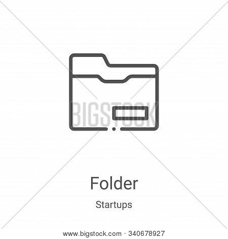 folder icon isolated on white background from startups collection. folder icon trendy and modern fol