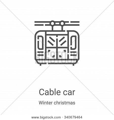 cable car icon isolated on white background from winter christmas collection. cable car icon trendy