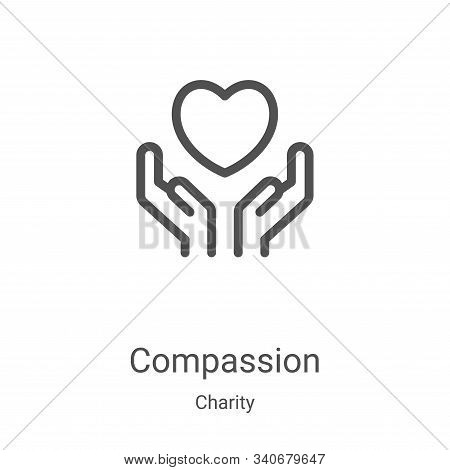 compassion icon isolated on white background from charity collection. compassion icon trendy and mod