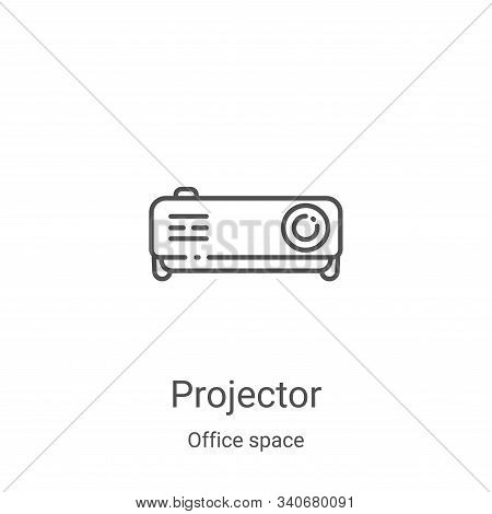 projector icon isolated on white background from office space collection. projector icon trendy and