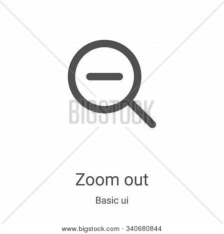 zoom out icon isolated on white background from basic ui collection. zoom out icon trendy and modern