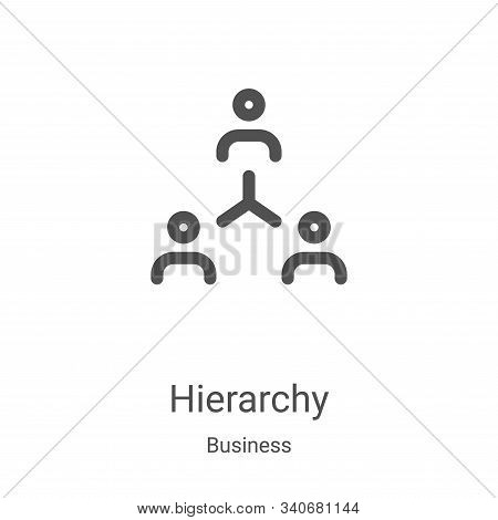 hierarchy icon isolated on white background from business collection. hierarchy icon trendy and mode