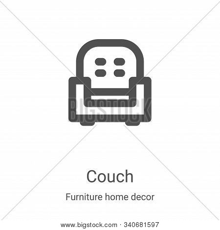 couch icon isolated on white background from furniture home decor collection. couch icon trendy and