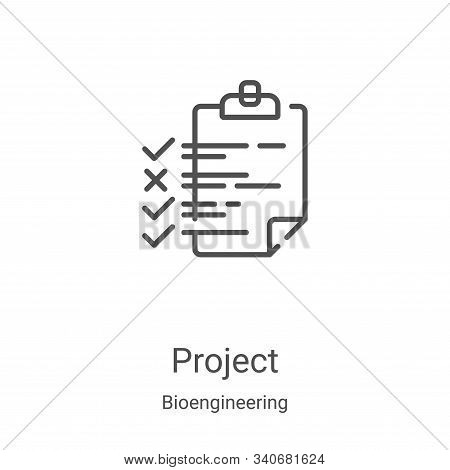 project icon isolated on white background from bioengineering collection. project icon trendy and mo
