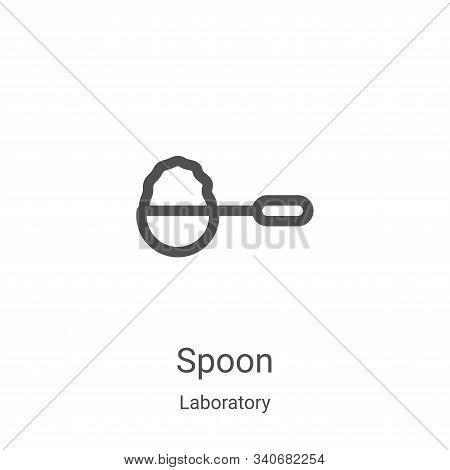 spoon icon isolated on white background from laboratory collection. spoon icon trendy and modern spo